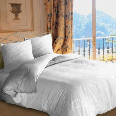 Комплект постельного белья бязь голд «white» NazTextile