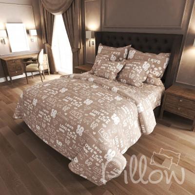Комплект постельного белья бязь голд «n-7207-beige» NazTextile