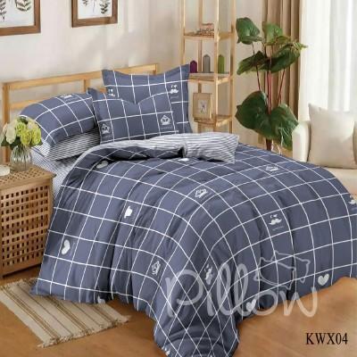 Комплект постельного белья сатин «kwx-04-a-b» NazTextile
