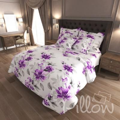Комплект постельного белья бязь голд «n-7132-violet» NazTextile