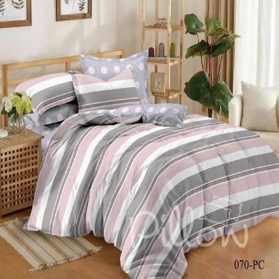 Комплект постельного белья сатин «070-pc-a-b» NazTextile