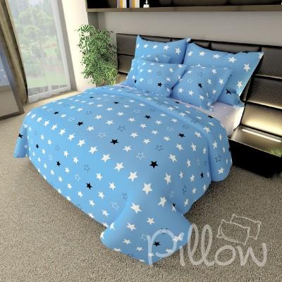 Комплект постельного белья бязь голд «n-7461-a-b-blue» NazTextile