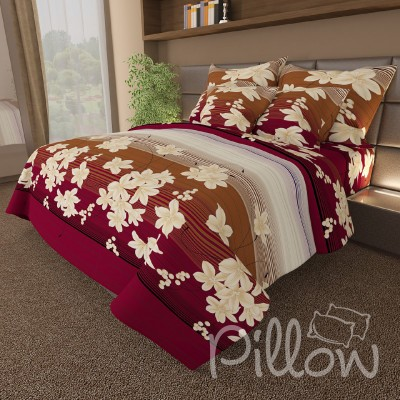 Комплект постельного белья бязь голд «n-086-red» NazTextile
