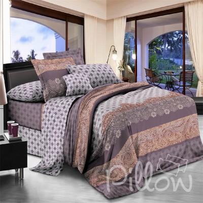Комплект постельного белья поплин «17010-a-b» NazTextile