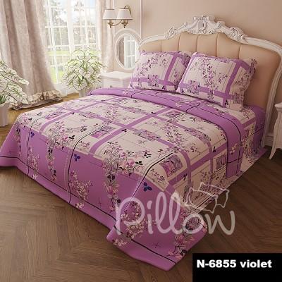 Комплект постельного белья бязь голд «n-6855-violet» NazTextile