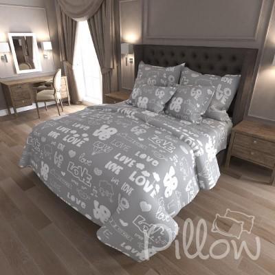 Комплект постельного белья бязь голд «n-7207-grey» NazTextile