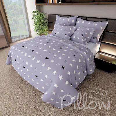 Комплект постельного белья бязь голд «n-7461-a-b-grey» NazTextile