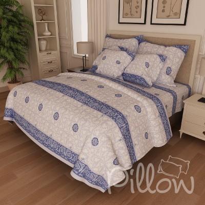 Комплект постельного белья бязь голд «n-022-blue» NazTextile