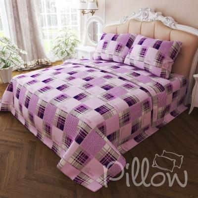 Комплект постельного белья бязь голд «n-7284-violet» NazTextile