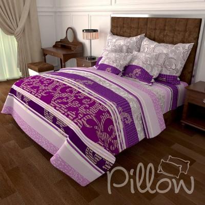 Комплект постельного белья бязь голд «n-7036-purple» NazTextile
