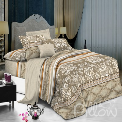 Комплект постельного белья поплин «1701-a-b» NazTextile