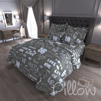 Комплект постельного белья бязь голд «n-7207-porpoise» NazTextile