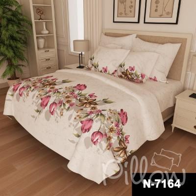 Комплект постельного белья бязь голд «n-7164-pink» NazTextile