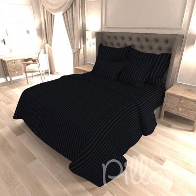 Комплект постельного белья сатин страйп «19-4305» NazTextile