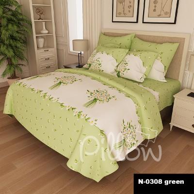 Комплект постельного белья бязь голд «n-0308-green» NazTextile
