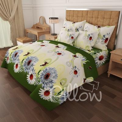 Комплект постельного белья бязь голд «n-6806-green» NazTextile