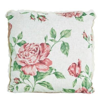 Наволочка декор «Large pink Rose» Прованс