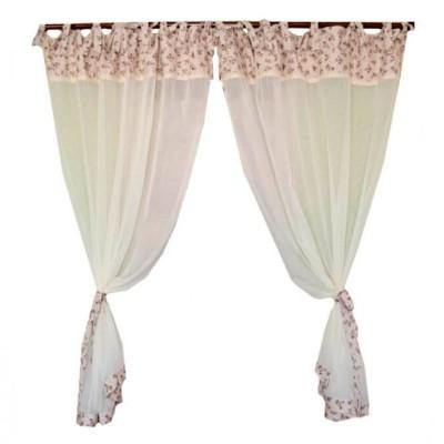 Комплект штор батист 2 ед. «Lilac Rose» Прованс