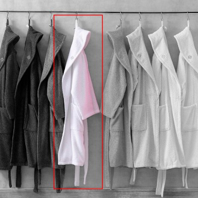 Халат махровый «Dahlia beyaz - L/XL» белый | Marie Claire