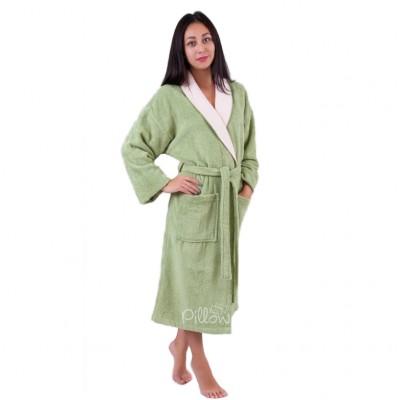 Халат махровый «52007 V1 - S/M» зеленый   Deco Bianca