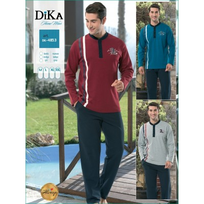 Пижама мужская «4853» синий | Dika