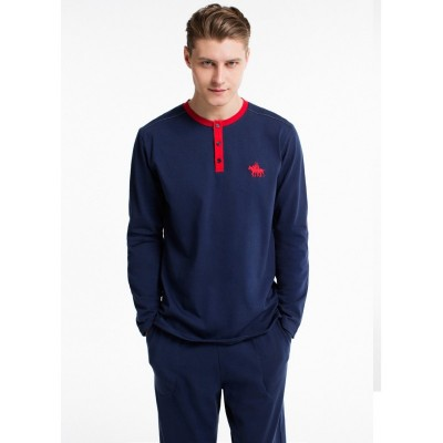 Пижама мужская (длин.рукав) «17135 - S» синяя | U.S. Polo Assn