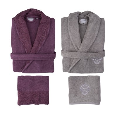 Набор халатов с полотенцем «Drisela 2018-2» murdum | Karaca Home