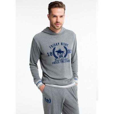 Пижама мужская (длин.рукав) «17140» серая | U.S. Polo Assn