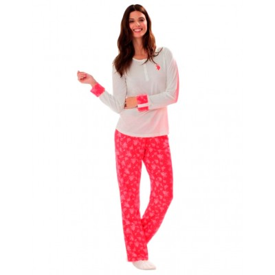 Пижама женская (длин.рукав) «15110» молочная | U.S. Polo Assn