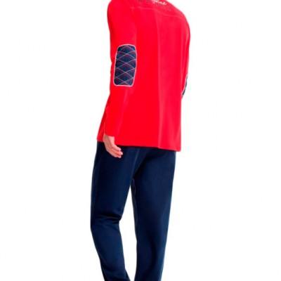 Пижама мужская (длин.рукав) «17135 - S» серая | U.S. Polo Assn