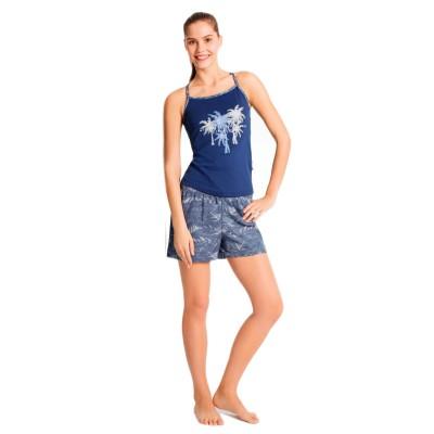 Майка и шорты «15637» синие | U.S. Polo Assn