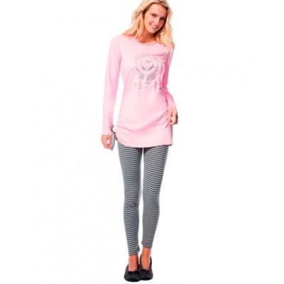 Пижама женская (длин.рукав) «15515» розовая | U.S. Polo Assn