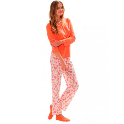 Пижама женская (длин.рукав) «15116» оранжевая | U.S. Polo Assn
