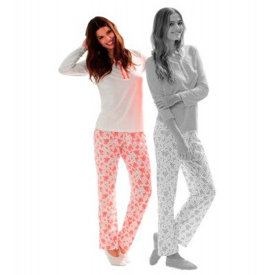 Пижама женская (длин.рукав) «15116» молочная | U.S. Polo Assn
