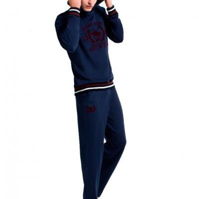 Пижама мужская (длин.рукав) «17140 - S» синяя | U.S. Polo Assn