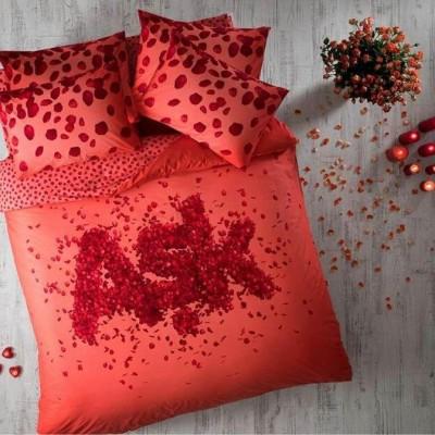 Комплект постельного белья ранфорс «Ask Red» TAC
