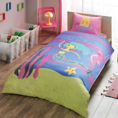 Детский комплект постельного белья ранфорс «Hallmark Mermaid» TAC