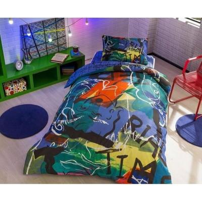 Детский комплект постельного белья ранфорс «Graffiti Face» TAC