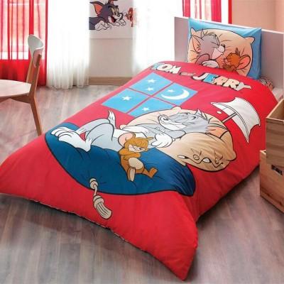Детский комплект постельного белья ранфорс «Tom and Jerry Good Night» TAC