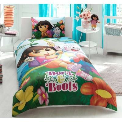 Детский комплект постельного белья ранфорс «Dora and Boots» TAC