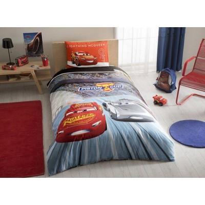 Детский комплект постельного белья ранфорс «Cars 3» TAC