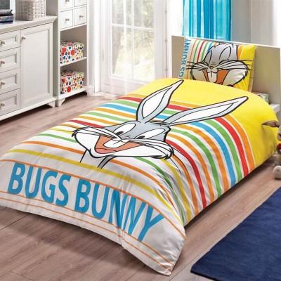 Детский комплект постельного белья ранфорс «Bugs Bunny Stripe» TAC