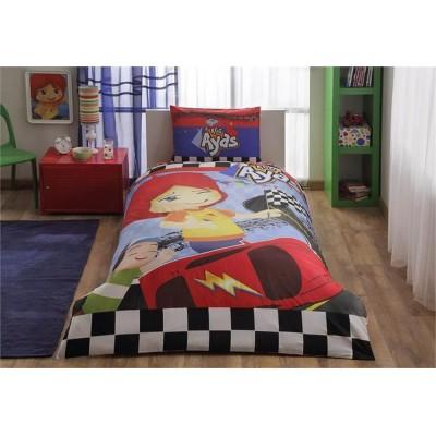 Детский комплект постельного белья ранфорс «Ayas Race» TAC