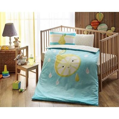 Детский комплект постельного белья ранфорс «Hallmark Baby Girl» TAC