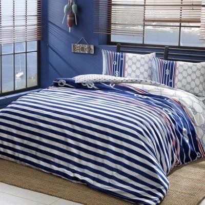 Комплект постельного белья ранфорс «Blue» TAC