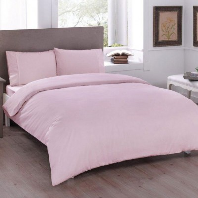Комплект постельного белья ранфорс «Basic Pink» TAC