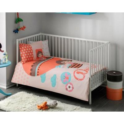 Детский комплект постельного белья ранфорс «Dora Baby» TAC
