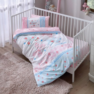 Детский комплект постельного белья ранфорс «Butterfly Baby» TAC