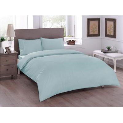 Комплект постельного белья ранфорс «Basic Mint» TAC