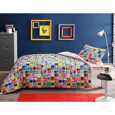 Детский комплект постельного белья ранфорс «Graffiti Square» TAC